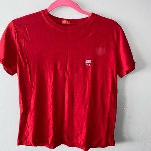 Brandy Melville USA Red T-Shirt